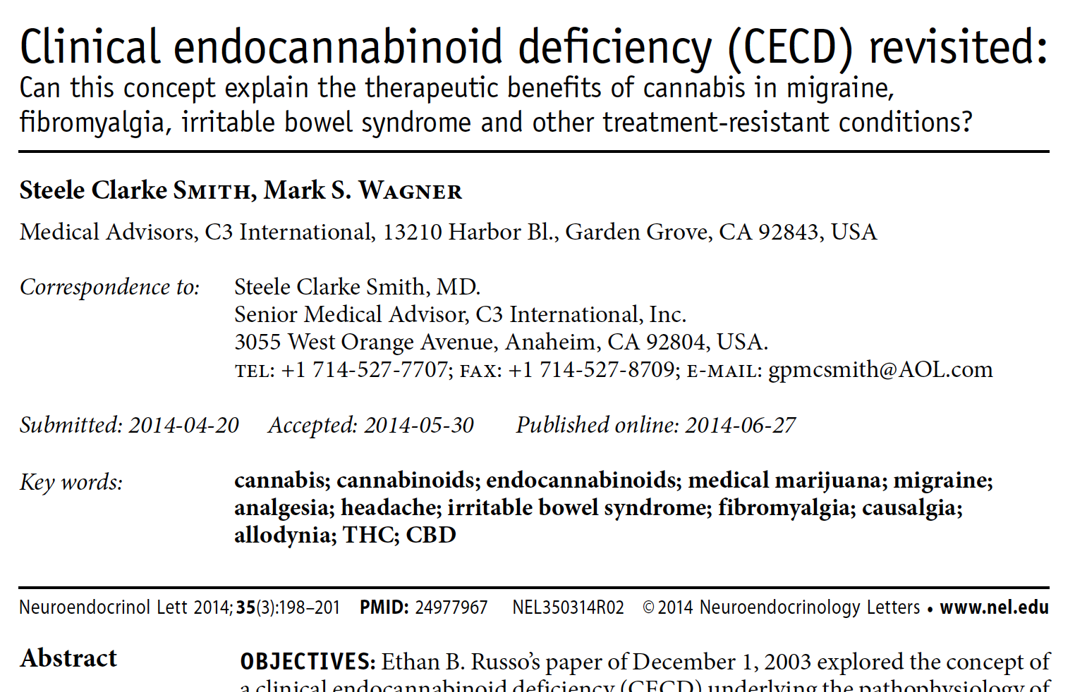 Clinical endocannabinoid deficiency (CECD) revisited:
